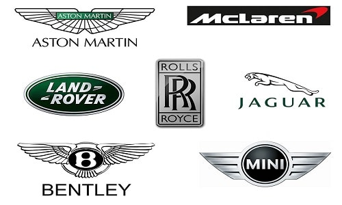 british car brands names list and logos of top uk cars