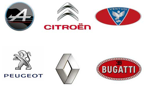Famous Car Logos And Names >> French Car Brands Names - List And Logos Of French Cars