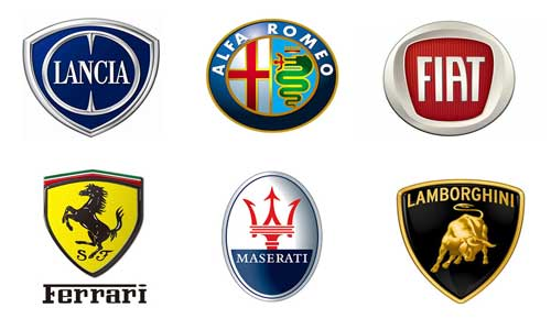 Famous Car Logos And Names >> Italian Car Brands Names - List And Logos Of Italian Cars